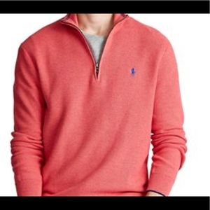 POLO RALPH LAUREN Cotton Half-Zip Sweater size:S